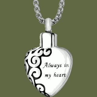 always in my heart pendant keepsake urn