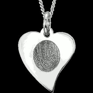 stainless steel flat heart pendant